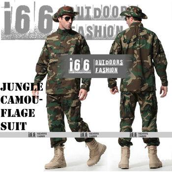 Free shipping Jungle Camouflage suit sets BDU Military Combat Uniform CS Training Uniform Garment sets Shirt + Pants(AU-12020)