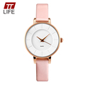 TTLIFE 2016 New Brand Women Simple Watches 30M Waterproof Leather Strap Fashion Quartz Watch Student Wristwatches