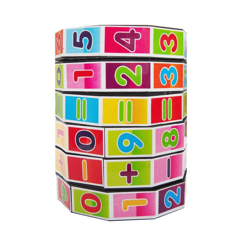 Fashion Mathematics Numbers Magic Cube Toy Puzzle Game for Children Kids Math Education and Joy Free Shipping RTH(China (Mainland))
