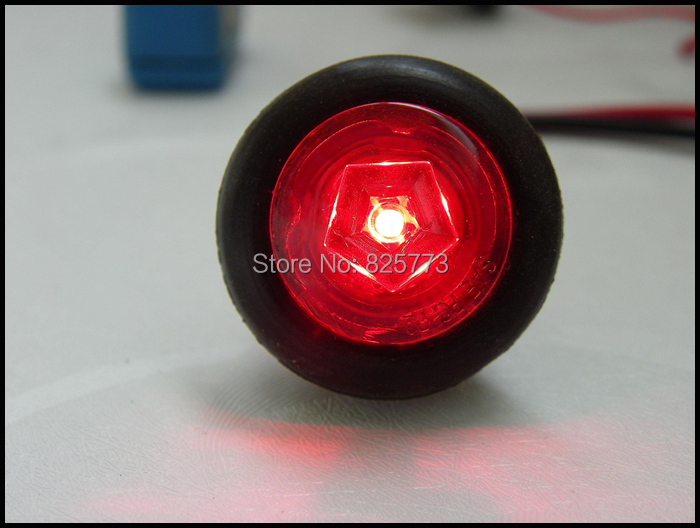 Wholesale - packing (10) 0.75 inch LED Trailer Small Marker light/Clearance light for Truck light with PVC Grommet<br><br>Aliexpress