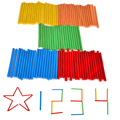 BOHS 100pcs Children s Baby Learning Game Stick Bar Counting Rod Math Arithmetic Montessori Teaching Aids