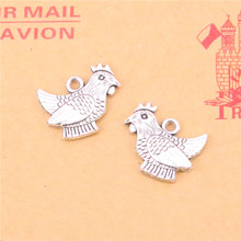 Buy 10pcs cock chicken Charms Fashion Pendants Bracelet Necklace Accessories Jewelry Making Handmade,Tibetan Silver Plated 19*14mm for $1.69 in AliExpress store