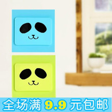 Creative silicone switch cover household dust and shock protection cover cartoon decorative wall power sets protective cover(China (Mainland))