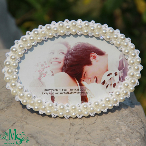 New Fashion Photo Frame Crystal Pearl Frame Love Home Decor Photo Frame Picture Frame(China (Mainland))
