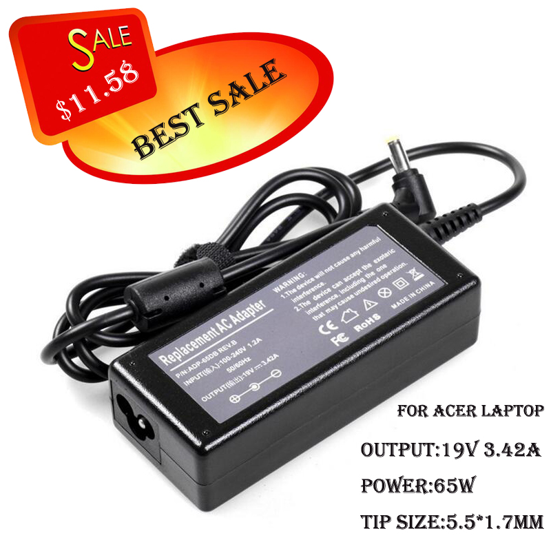 power adapter for ACER ASPIRE 4749 laptop charger for ACER HP-A0652R3B for acer 19v 3.42a 65w ac adapter ASPIRE 4810T - 8645(China (Mainland))