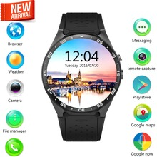 Smartwatch KW88 1.39'' Amoled Screen 400*400 Smart Watch 3G WIFI Calling 2.0MP Camera Pedometer Heart Rate with Free Earphone(China (Mainland))