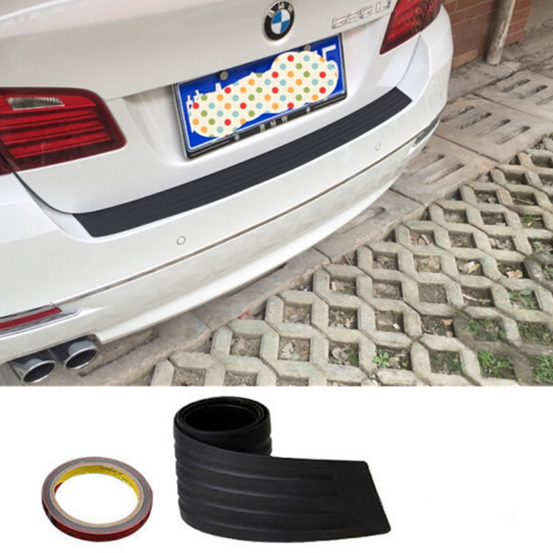 New Black Rubber Rear Guard Bumper Protector Trim Cover For Ford Focus 2 VW Volvo Benz Audi BMW E46 Buick Mazda Chevrolet Toyota(China (Mainland))