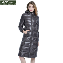 2017 New High-End Brand Ladies Winter Warm Coat Women Ultra Light 640 Filling Prower Long White Duck Down Jacket Women Jackets(China (Mainland))