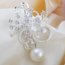 Broches de Flor de moda Para As Mulheres Vestido de Jogo Broches Broches de Strass Atacado, Requintado Broche de Casamento, Frete Grátis