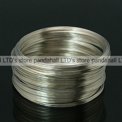 Steel Memory Wire, Bracelets Making, Nickel Free, Silver, 5.5CM, Wire: 0.6mm, about 1100 circles/500g(China (Mainland))