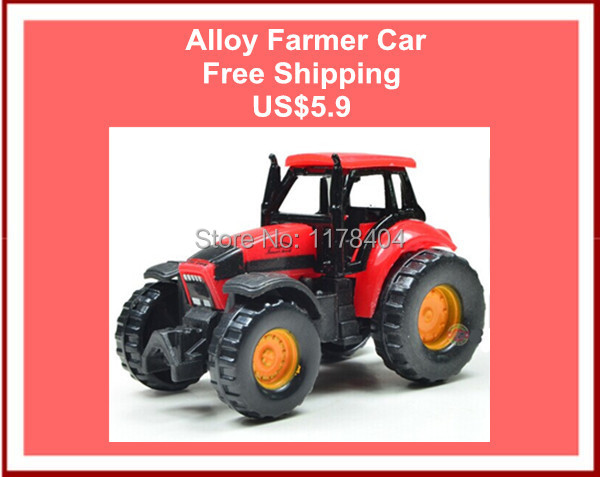 FREE SHIPPING 1:87 Alloy farmer car children's toy tractor plow farm machine baby toy(China (Mainland))