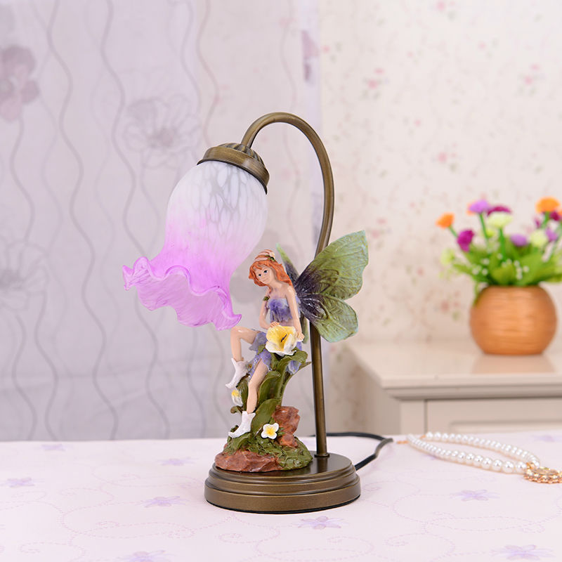 European-style luxury rural beautiful faery touch bedside lamp decoration lamp lovely bedroom romantic warmth that move light(China (Mainland))