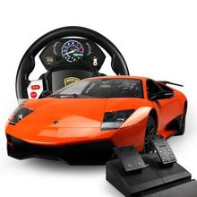 1:14 Lambo Genuine Brand Car Light With Steering Wheel Controller Gravity Sensing Sensor Remote Control Car 34*15.5*8CM 2015T(China (Mainland))