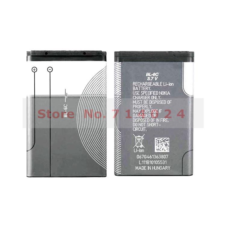 2pcs Original BL-6C BL 6C BL6C Phone Battery For Nokia QDA+ 2110 2116 2125 2855 2865 6015i 6016i 6019i 6152 6152 6275 E70 6255(China (Mainland))