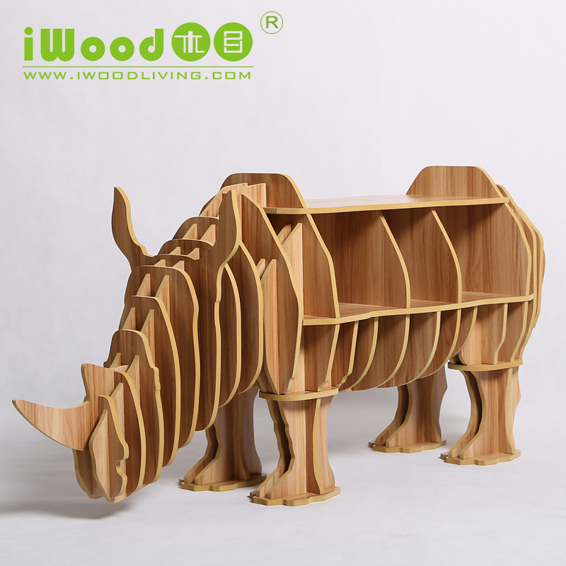Continental European furniture wood crafts rhinoceros rhino creative gifts home accessories wooden ornaments creative home decor(China (Mainland))
