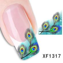 XF1317-Fashion New style Water Transfer Stickers 1 Sheets 3D Design DIY Nail Art Decorations Nail Sticker Nail Decal Nail Tools