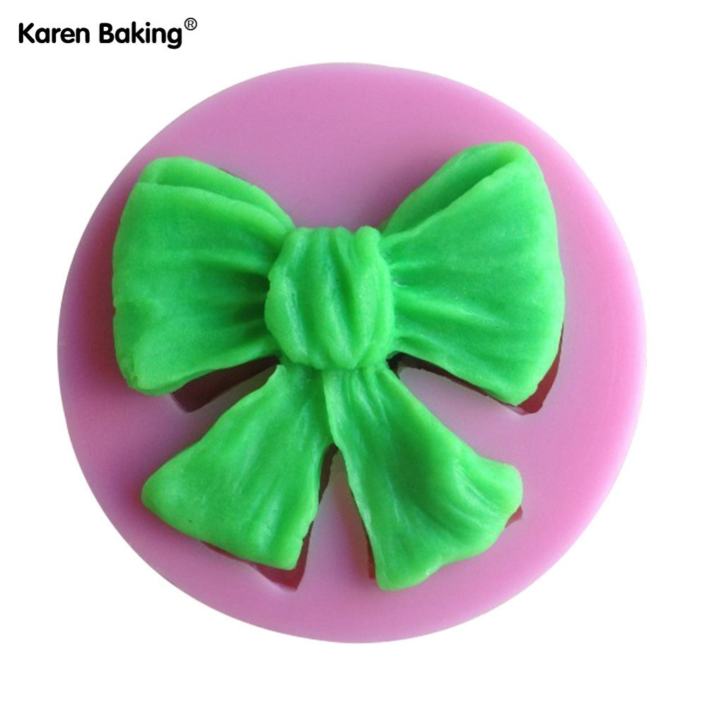 1Pcs Butterfly Bow Chocolate Candy Jello silicon Mold Mould cake tools Bakeware sugar craft cake decorating tools(China (Mainland))