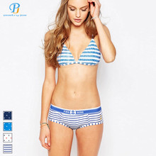 Heroe Pink 2016 New Cotton Printing Couple Of Women's Underwear Manufacturers Dots stripes   Triangle Panties Women Cotton(China (Mainland))