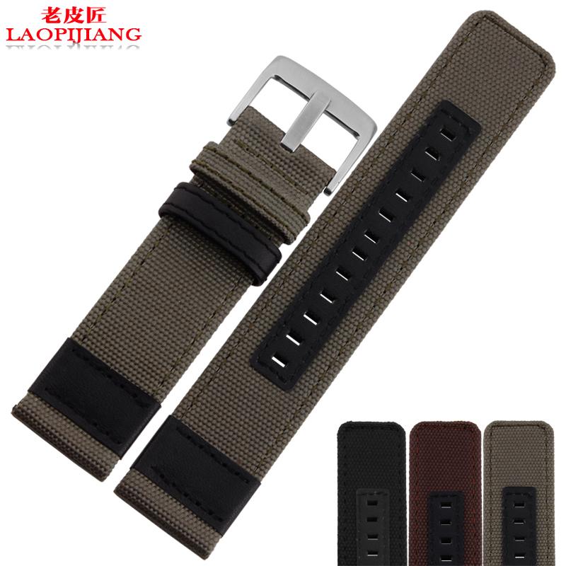 Laopijiang Canvas watch strap adapter watch JP612 JP15201 JPC312 24mm Jeep nylon male(China (Mainland))