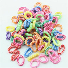 10 | disposable towel ring hair rope hair ring a lot of candy-colored children's hair accessories wholesale free shipping