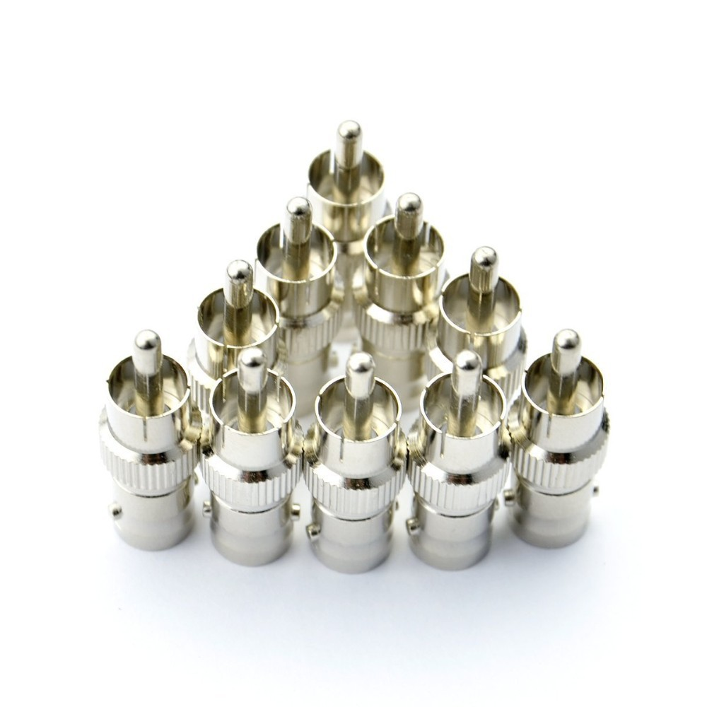 10 Pcs BNC Female TO RCA Male Plug COAX Adapter Connector for CCTV Cameras(China (Mainland))