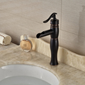 Oil Rubbed Bronze Waterfall Basin Faucet One Handle Brass Bathroom Mixers Deck Mounted