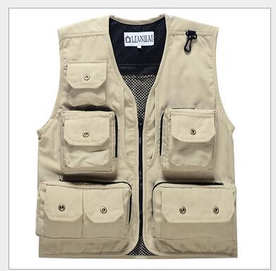 Summer Mesh Vest Multi-pocket Outdoor Vest Photography Vest Working Waistcoat ;men vest Free Shopping(China (Mainland))