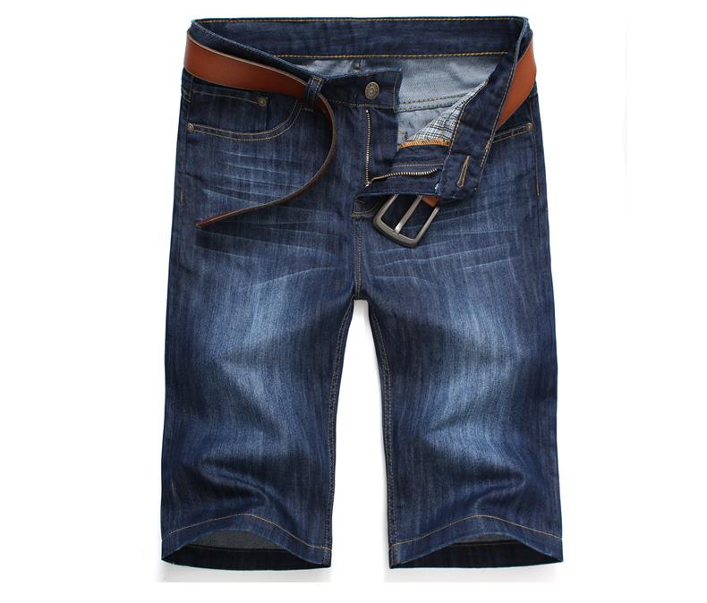 2015 Summer Male Knee-Length Pants Denim Short Jeans Casual Black White Straight Hole Shorts Men Skinny - Lynn&Aking Express Store store