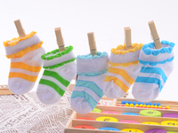 Free shipping Summer Stripe Baby Socks Newborn Socks,0-2years Anti Slip Socks Baby Boys And Girls #15031807