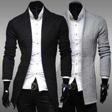 new 2015 spring  winter Unique Simple V-neck long sleeve Knitwear Sweaters men casual slim fit Cardigan Sweaters for men,M-2XL(China (Mainland))