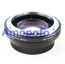 Buy Amopofo FD-M4/3 Focal Reducer Speed Booster Adapter Canon FD mount Lens Olympus M4/3 GH4 GX7 E-PL2, E-PL3, E-PM1. for $84.54 in AliExpress store