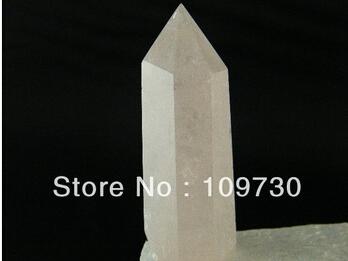 Free shipping Natural Ice Rose Pink Quartz Crystal Stone Rock Polish Point Wand Healing(China (Mainland))