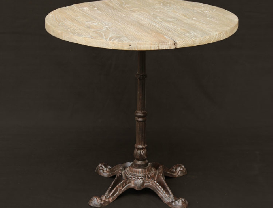 The new US custom wrought iron small round table to do the old antique iron old elm wood coffee table round coffee table combina(China (Mainland))