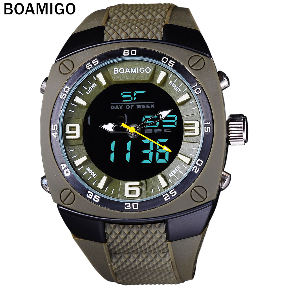 sports watches army green outdoor dual