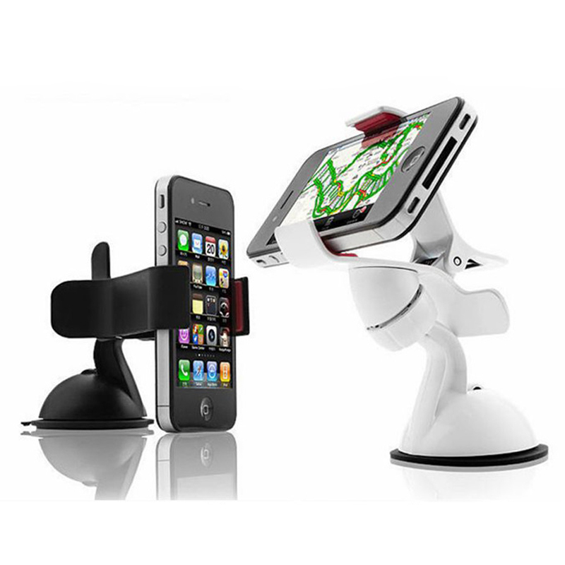 Universal Cell Mobile Phone PDA GPS MP4 In Car Windscreen Suction Mount Holder Cradle Stand Bracket 360 Degree(China (Mainland))