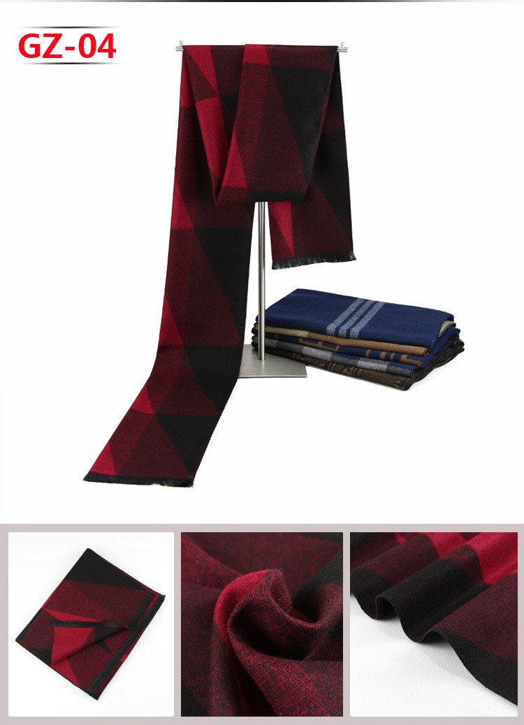 2016 New Fashion designer Men Classic Cashmere Scarf Winter Warm Soft Fringe Tassel Shawl Wrap Plaid Men Cotton ScarvesGZLH01