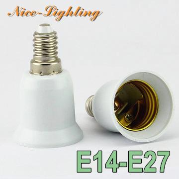 10pcs/lot E14-E27 Lamp Holder Converter Screw Socket E14 to E27 Lamps Holder Adapter Light Bulb Plug Extender Free Shipping(China (Mainland))