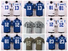 Hot 100% Stitiched,Indianapolis Colts,Andrew Luck,T.Y. Hilton,Andre Johnson,Pat McAfee,Coby Fleener,Frank Gore(China (Mainland))
