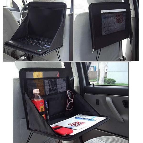 Travel Car Laptop Holder Tray Bag Mount Back Seat Food Table Work Desk Organizer(China (Mainland))