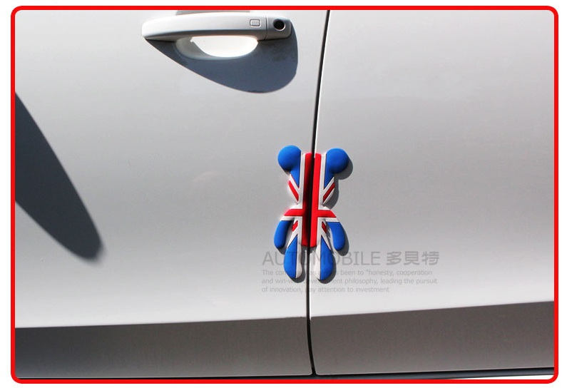 Car decoration union jack article door anti-collision cartoon scratch-resistant stick rubbing strip anti-collision strip(China (Mainland))