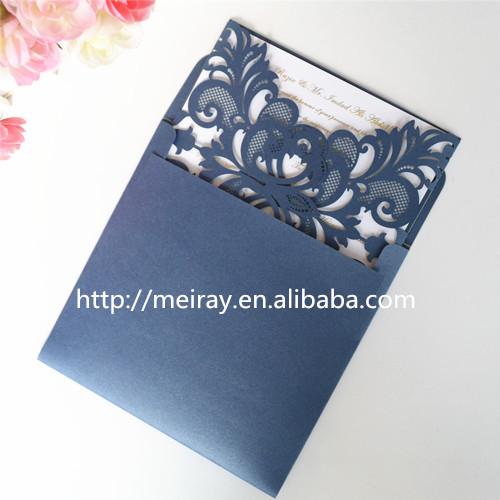 Aliexpress Buy Luxury Wedding Invitations Dark Blue