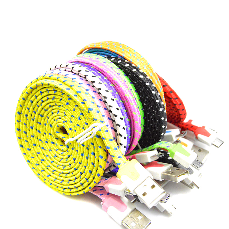 1M 2M 3M Braided Colorful USB Charging Sync Cord Data Cable for Iphone 5 5s 6 6s plus chargering wire(China (Mainland))