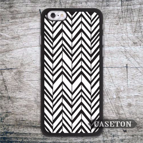 Black and White Chevron Case For iPhone 7 6 6s Plus 5 5s SE 5c and For iPod 5 High Quality Protective Cover Free Shipping