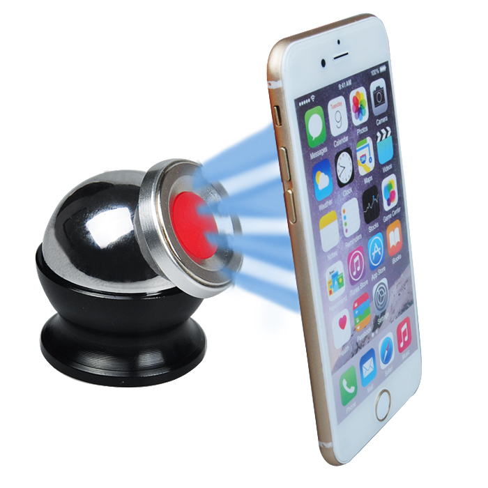 Latest 360 Degrees Rotating Magnetic Cell Phone Tablet Holder Mini Mobile Holder Dash Dock(China (Mainland))