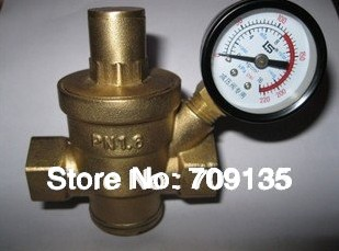 brass water pressure relief valve with pressure gauge safety valve dn15 g1 2 f 5pcs. Black Bedroom Furniture Sets. Home Design Ideas