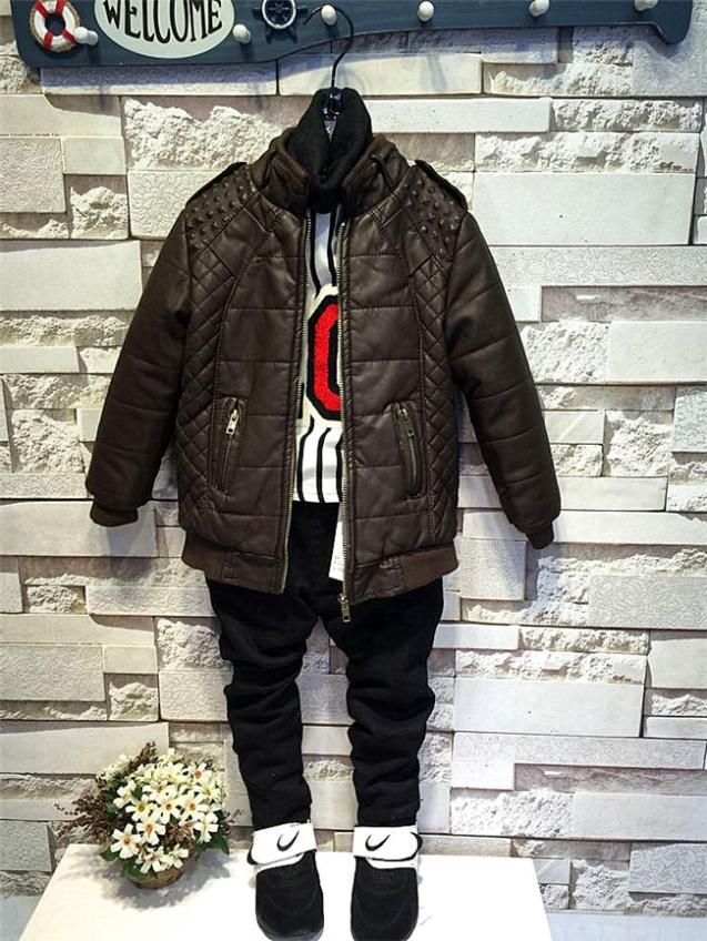 2015 New Fashion Childrens Kids Boys Winter Wild High-Grade Velvet Leather (5 Size /Lot) - 1 TO 3 store