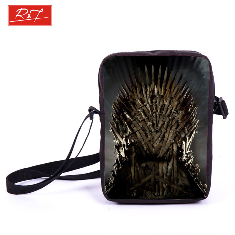 Tv Show Game of Thrones Prints Mini Messenger Bag Young Women Men Travel Bags Boys Girls School Bags Kids Book Bag For Snacks(China (Mainland))
