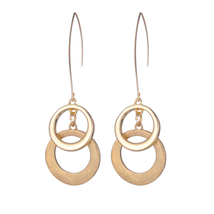 New arrival design fashion element gold silver hollow circle drop earrings brinco boho 2016(China (Mainland))