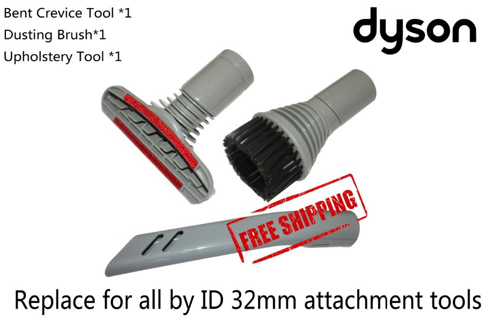 Free Shipping 3-Piece Replacement Attachment Kit For DYSON DC05 DC07 DC14 DC17 DC18 DUSTING BRUSH CREVICE & STAIR TOOL KIT SET(China (Mainland))