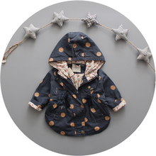 High Quality Baby Jackets Coat Spring Autumn Cotton Infant Coats &Outwear Cute Dot Toddler Kids Clothes Hooded Boy/Girl Clothing(China (Mainland))